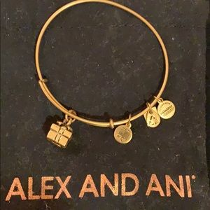 Alex and Ani gold bracelet with gift box